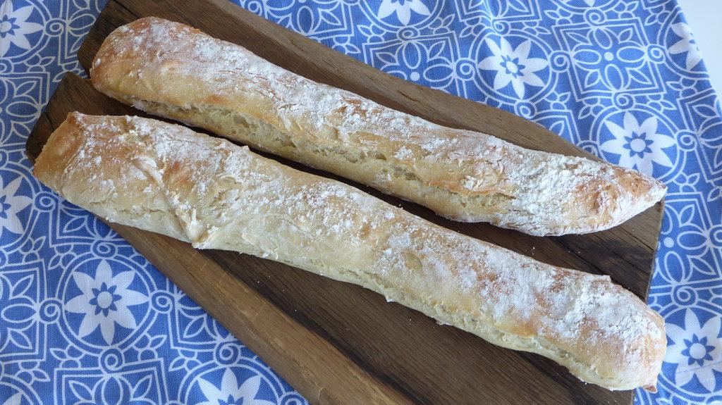 Baguette bread easy no-knead bread
